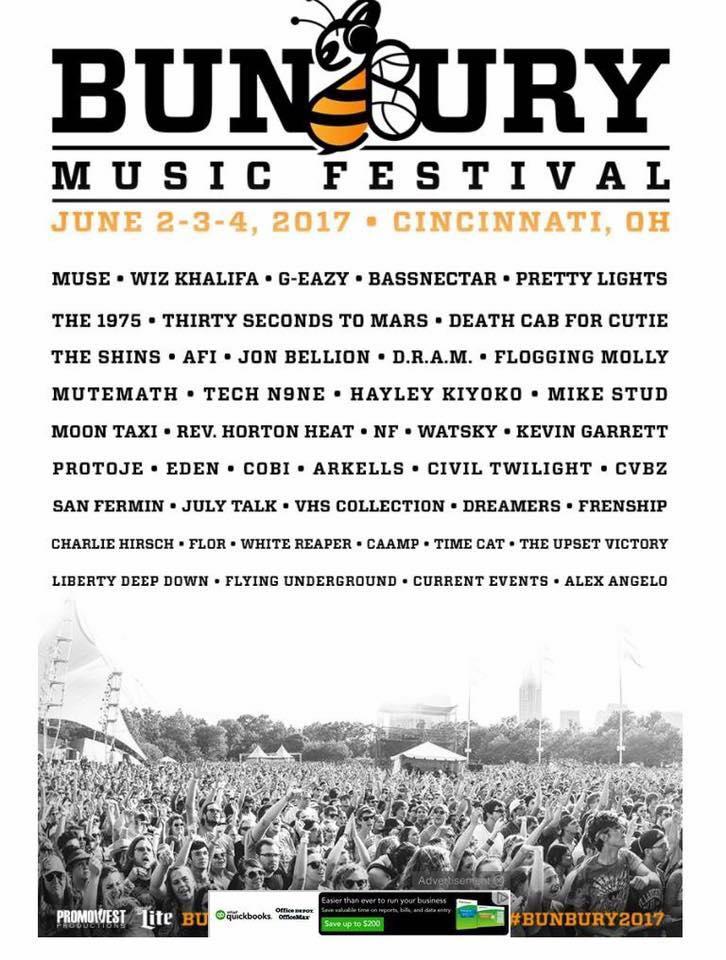 bunbury-music-festival-cincinnati-2017-lineup